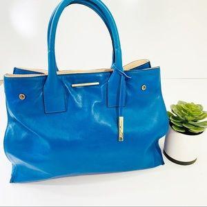NWOT Innue Italian Leather Blue Bag